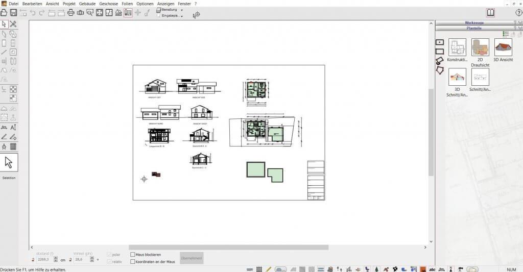 Schnitte erstellen mit der Hausplanungssoftware