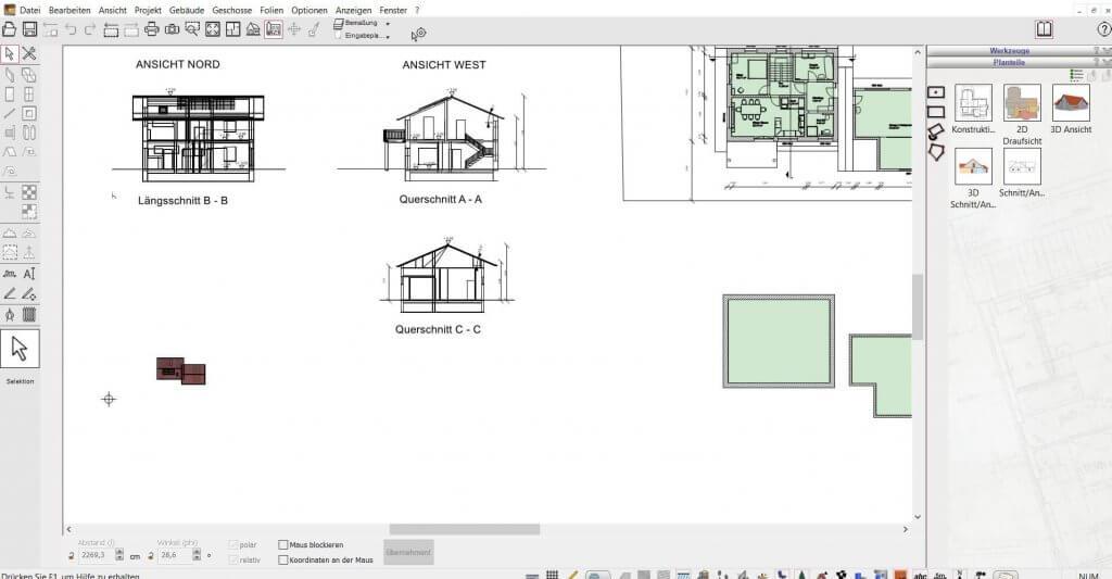2D Schnitte für den Umbau erstellen