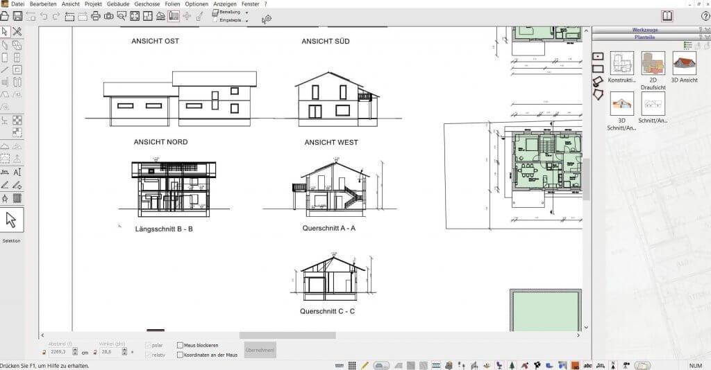2D Schnitte mit dem HausDesigner Programm