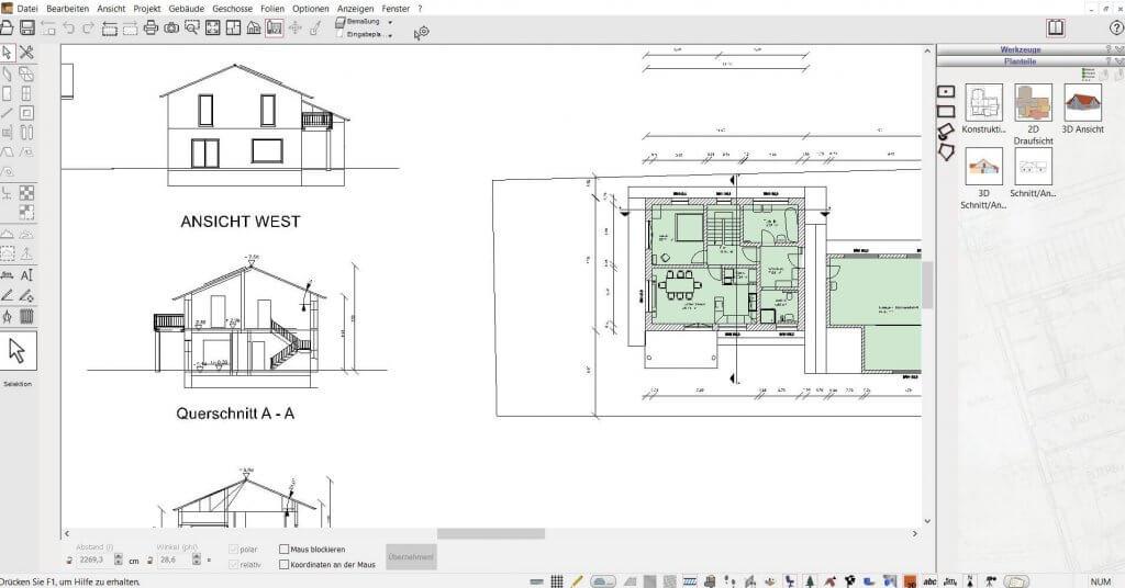 2D Schnitte mit dem Planungsprogramm erstellen