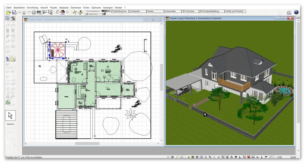 3D-2D-Ansicht-im-Planungsprogramm