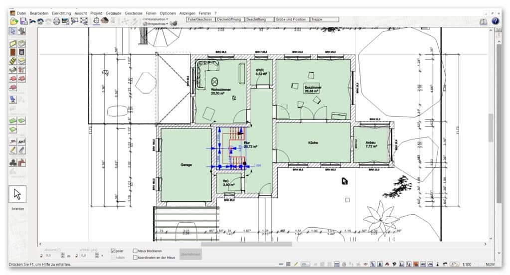 Automatische-Außenmaße-im-gezeichneten-Grundriss