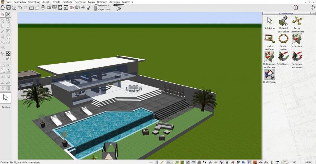 Hausplanungsprogramm für große Bauvorhaben
