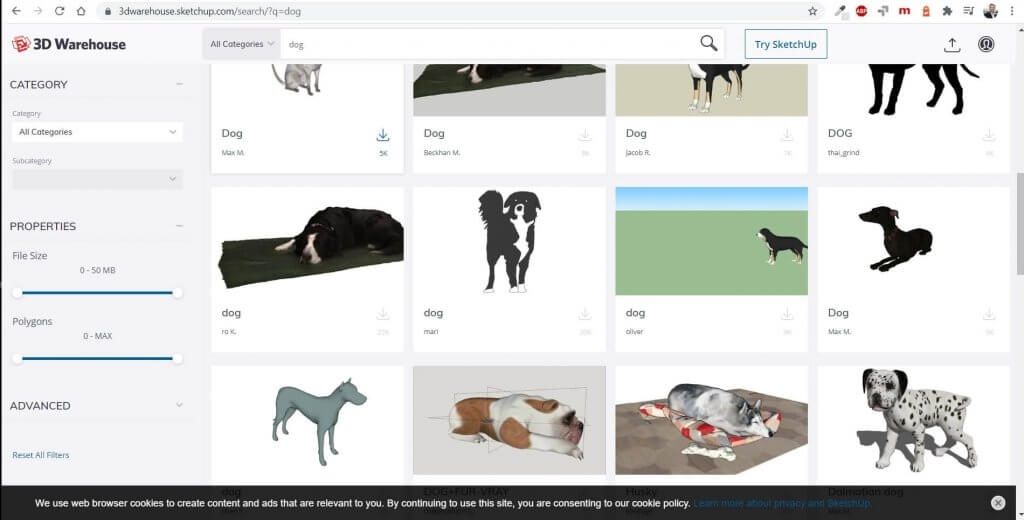 Hausplanungsprogramm mit Millionen 3D Objekten