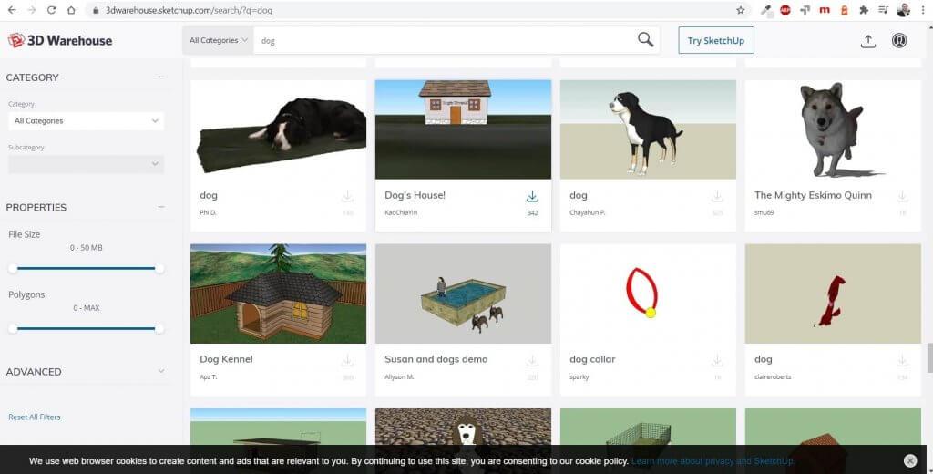 Millionen 3D Objekte mit dem Planungsprogramm einsetzen