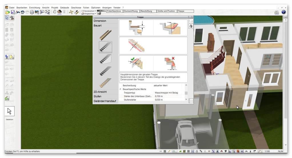 Treppe-erstellen-im-Zeichenprogramm-für-Häuser