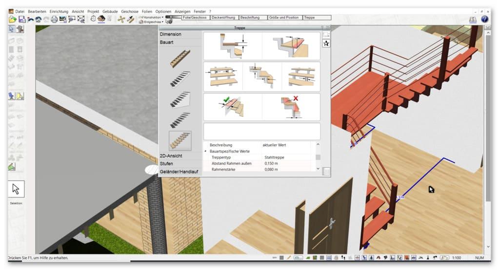 Treppe-planen-mit-dem-Planungsprogramm