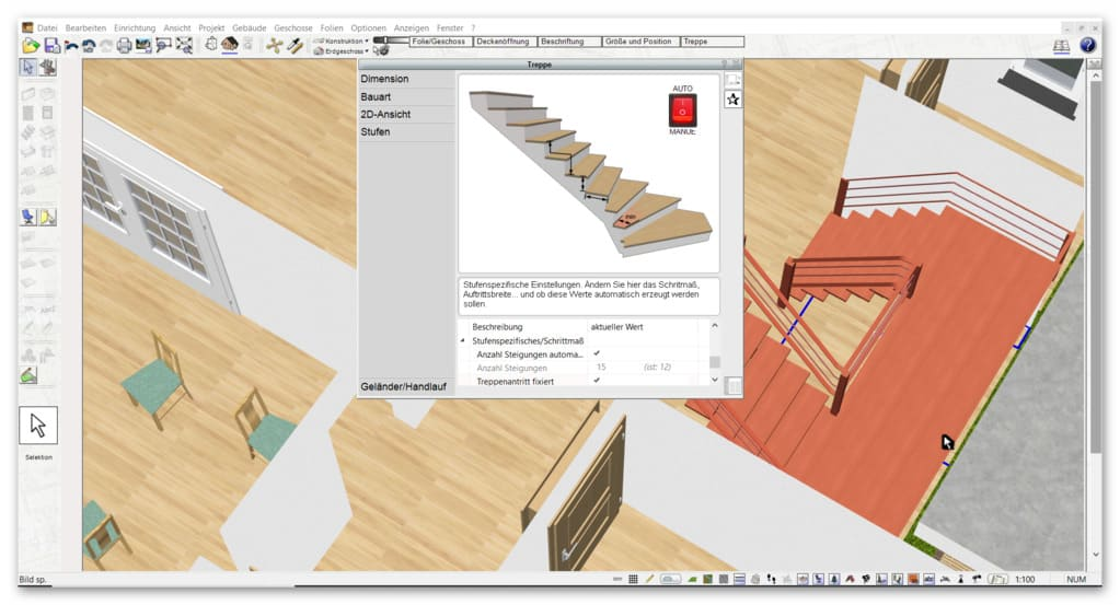 Treppe-zeichnen-bei-der-Planung-vom-Hausumbau