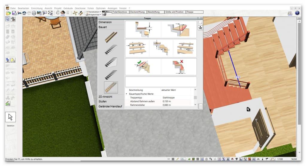 Treppe-zeichnen-mit-dem-Architekturprogramm