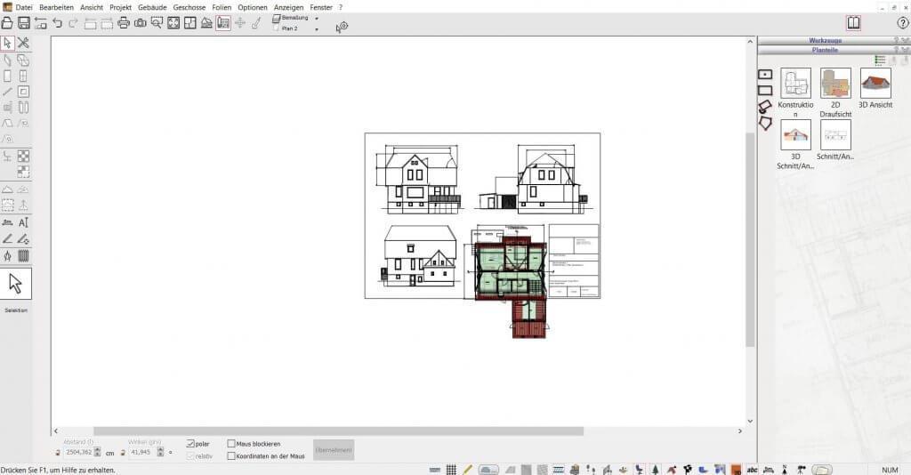 2D Schnitte für den Bauantrag mit dem DATA BECKER TraumHausDesigner Upgrade erstellen
