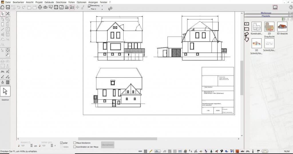 2D Schnitte vom Fachwerkhaus erstellen