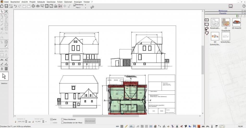 2D Schnitte vom Haus selber planen