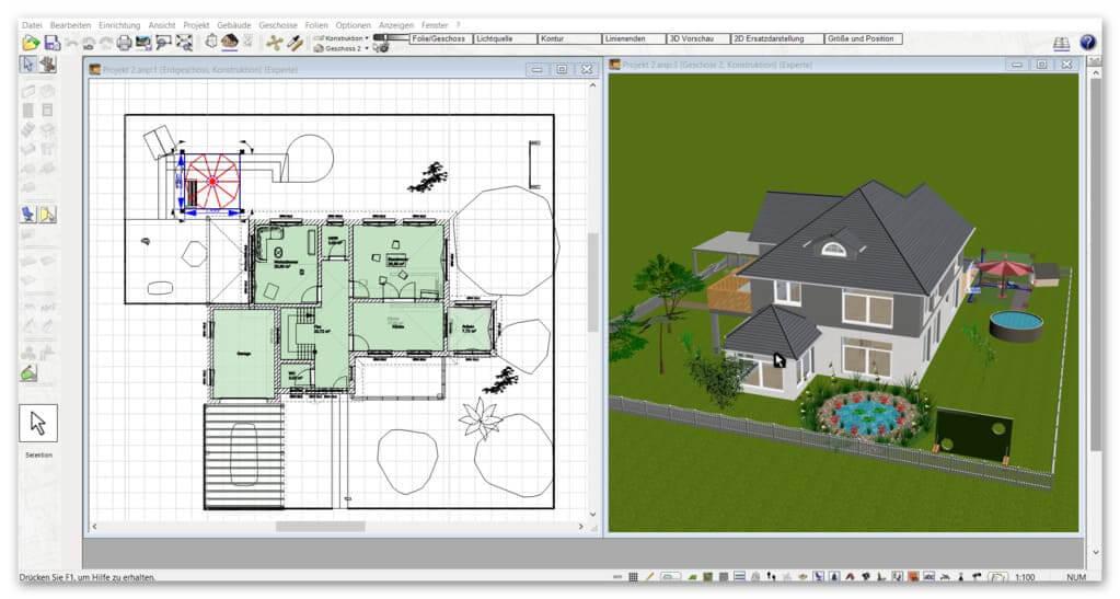 Garage-in-3D-2D-planen