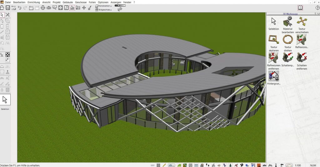 Große Blockhäuser virtuell planen