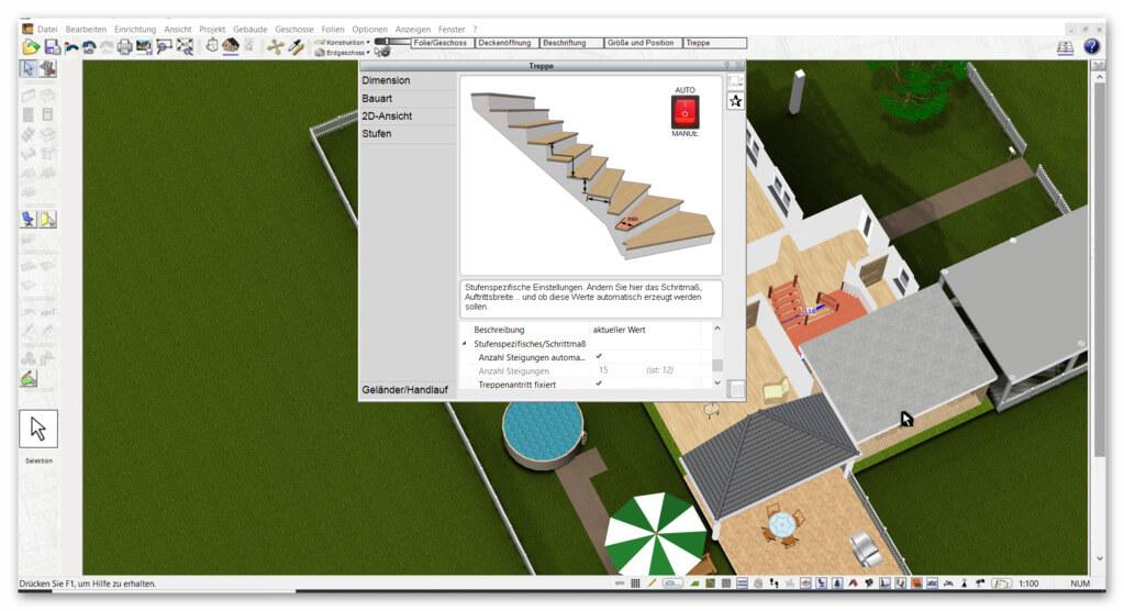 Treppe-zeichnen-mit-der-Data-Becker-TraumHausDesigner-Alternative