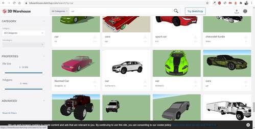Millionen 3D Objekte für die Bauzeichnung