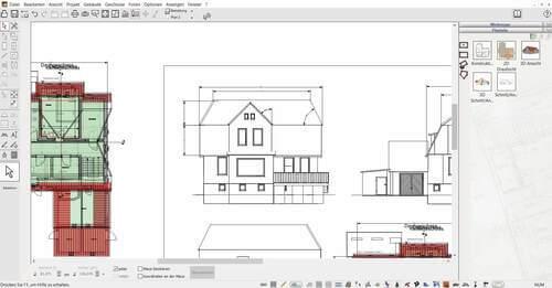 2D Schnitte für den Bauplan zeichnen