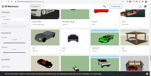 Millionen 3D Objekte für den Bauplan einsetzen
