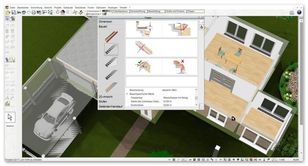 Treppe-im-Bauplan-zeichnen