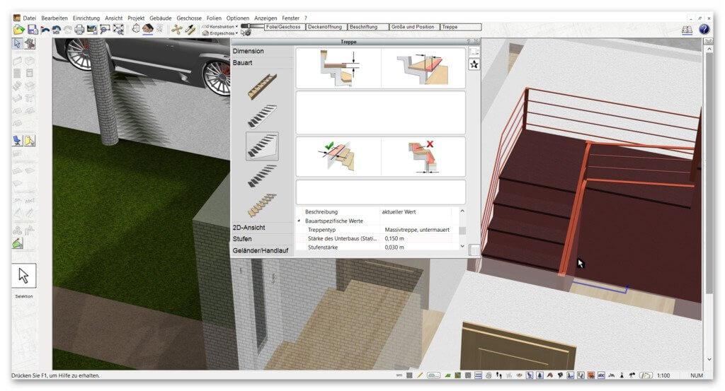 Treppen-zeichnen-und-Carport-planen