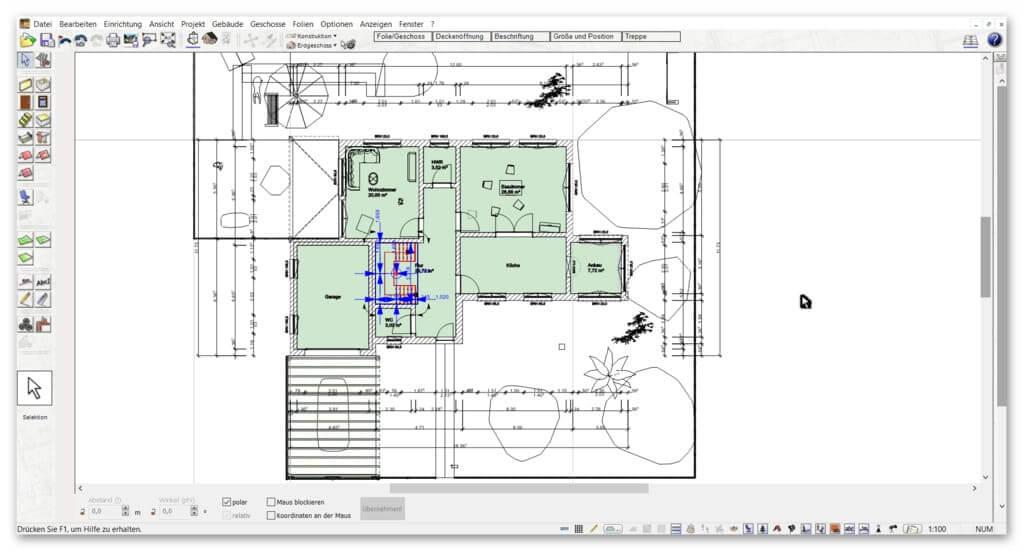 automatische-Außenmaße-im-Bauplan