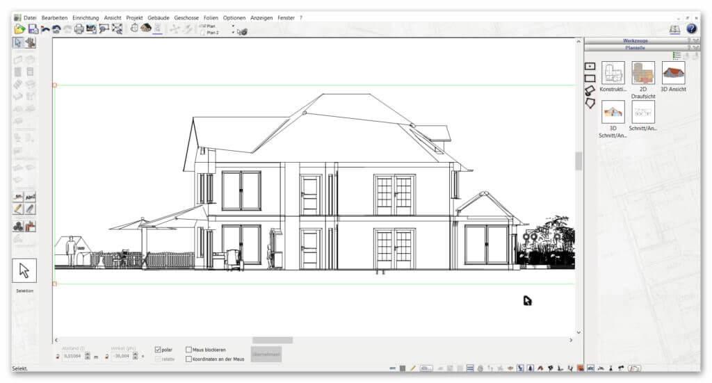 2D-Schnitte-mit-Architektursoftware