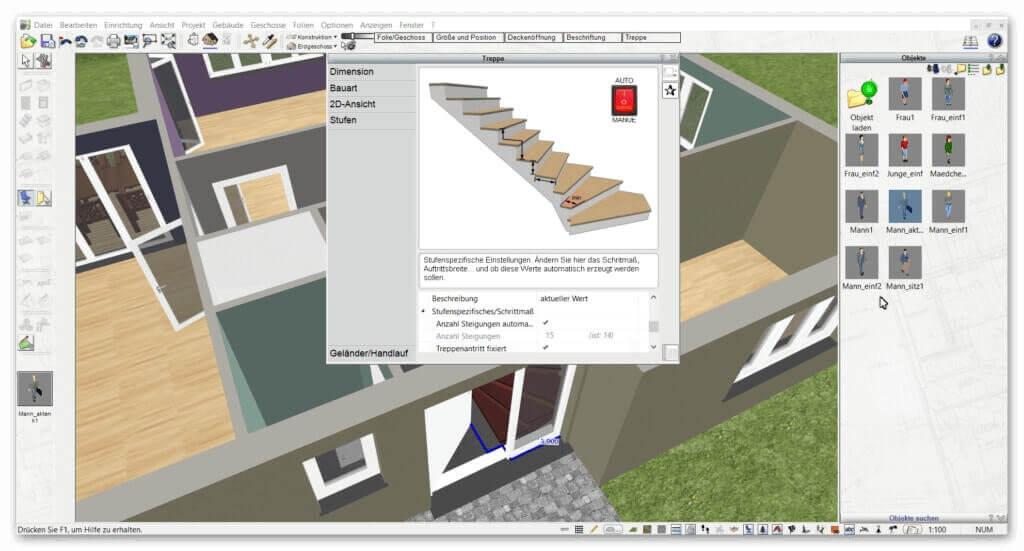 Treppe-zeichnen-mit-3D-CAD-Software