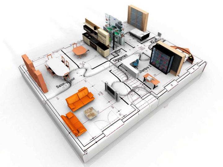 3d cad elektroplanung mit der plan7architekt software. Black Bedroom Furniture Sets. Home Design Ideas
