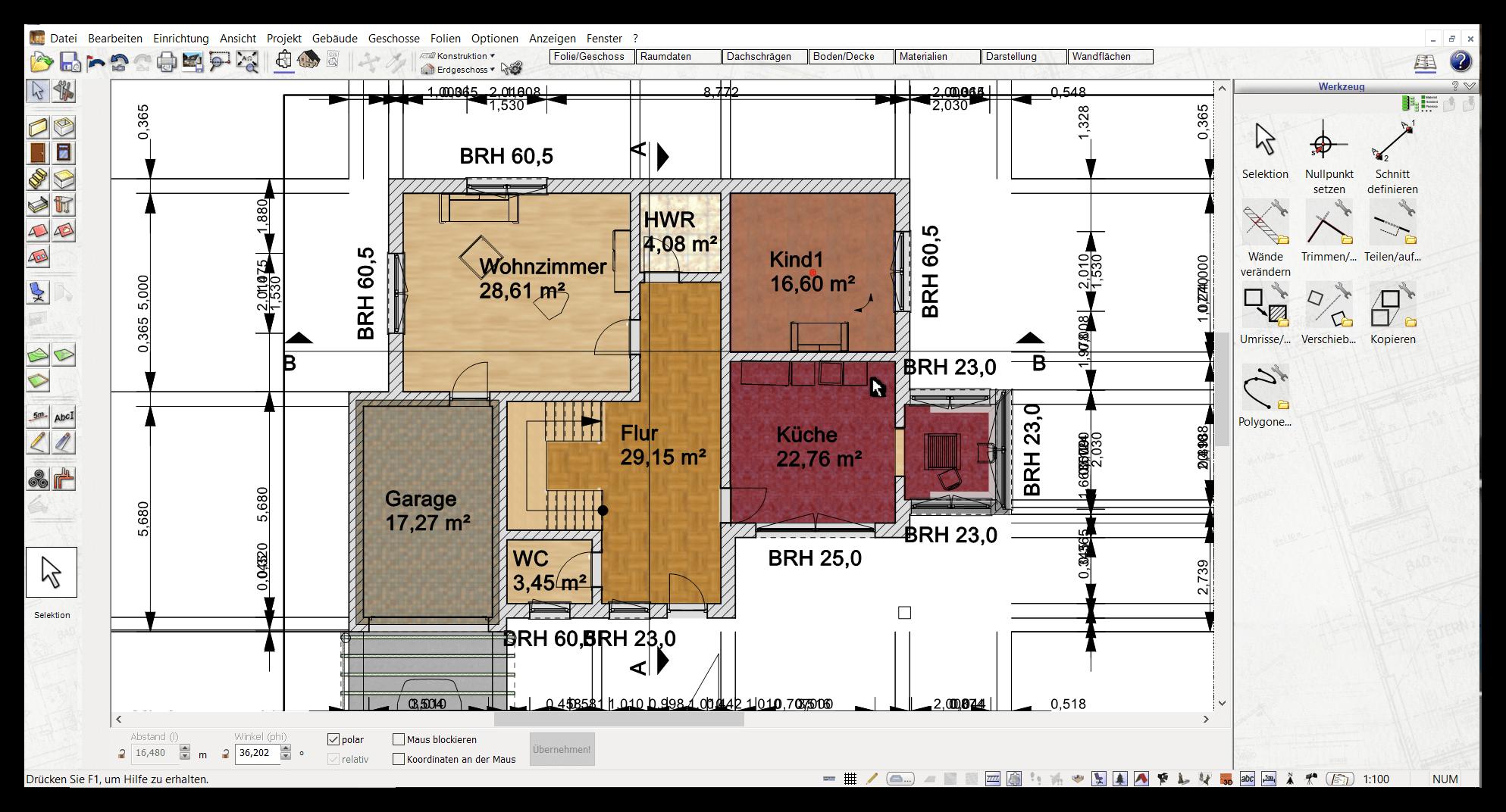 Grundrisserstellung mit dem Plan7Architekt