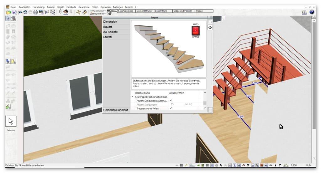 Treppe-zeichnen-in-der-Badplaner-Software