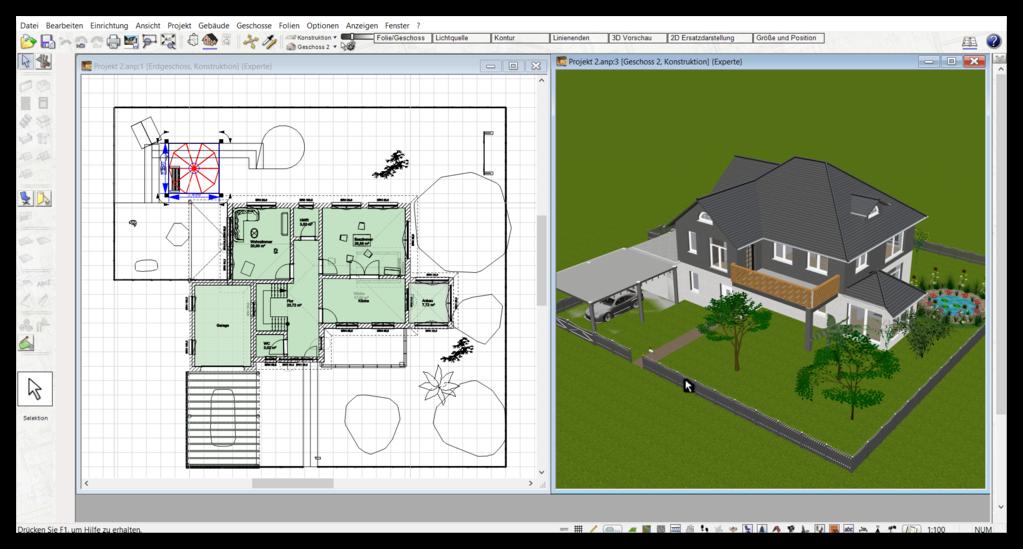 3D & 2D Ansicht im Planungsprogramm