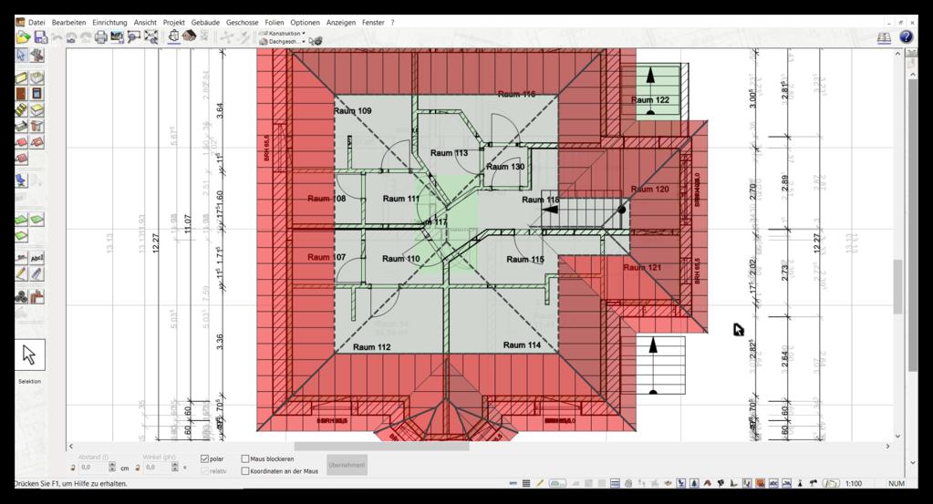 Außenmaße in der Data Becker TraumhausDesigner Alternative
