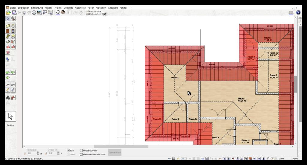 Automatische Bemaßung in der Alternative für Architekt 3D