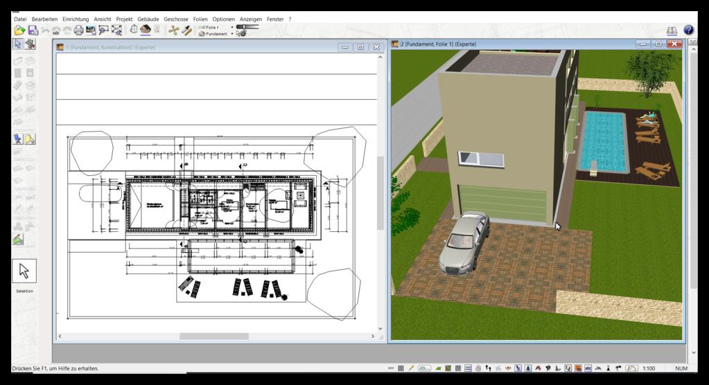 haus selber planen zeichnen mit 3d cad software programm. Black Bedroom Furniture Sets. Home Design Ideas