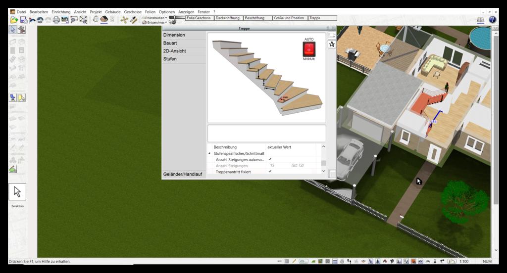 Treppe zeichnen bei der Haussanierung
