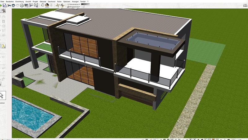 grundrisse selbst erstellen mit dem 3d cad plan7architekt. Black Bedroom Furniture Sets. Home Design Ideas