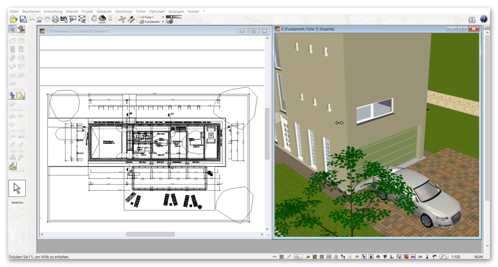carport selber planen mit software programm von plan7architekt. Black Bedroom Furniture Sets. Home Design Ideas