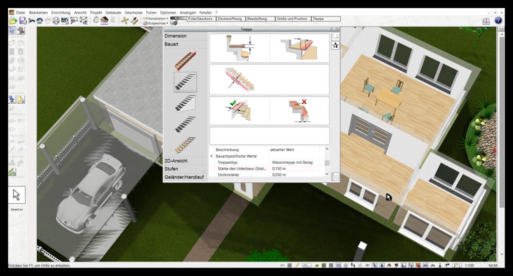 bauplan selber zeichnen erstellen mit der plan7architekt software. Black Bedroom Furniture Sets. Home Design Ideas