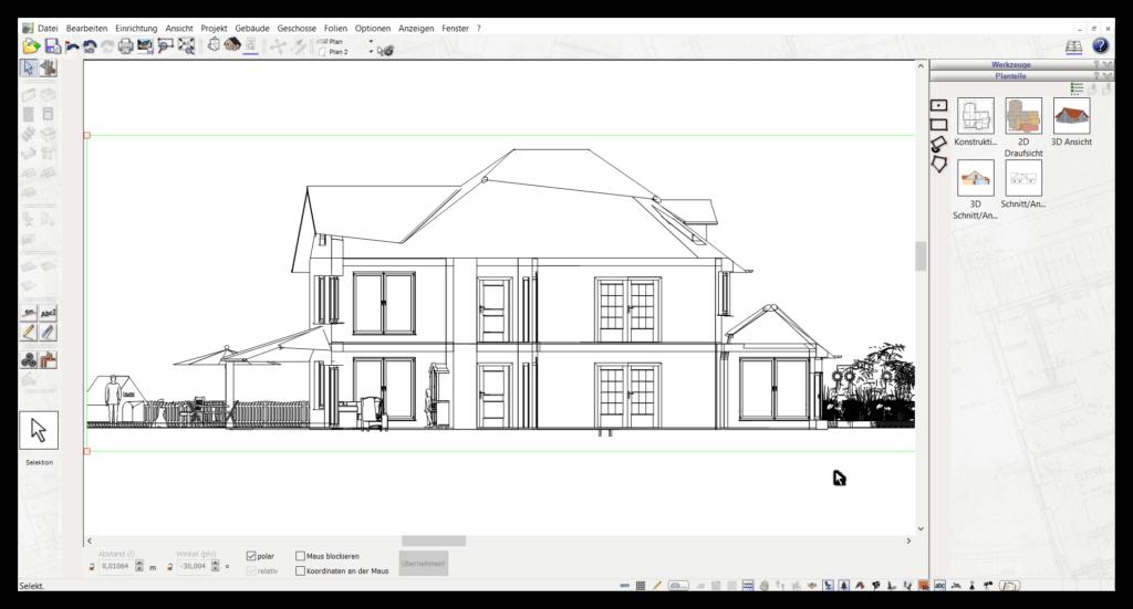 2D Schnitte mit Architektursoftware