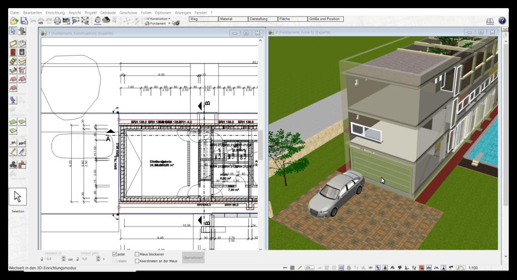 3d CAD Architektursoftware