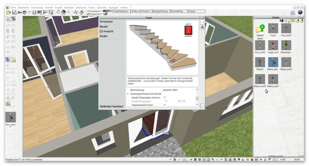 3d cad hausplaner architektur software programm plan7architekt - Innenarchitektur programm ...