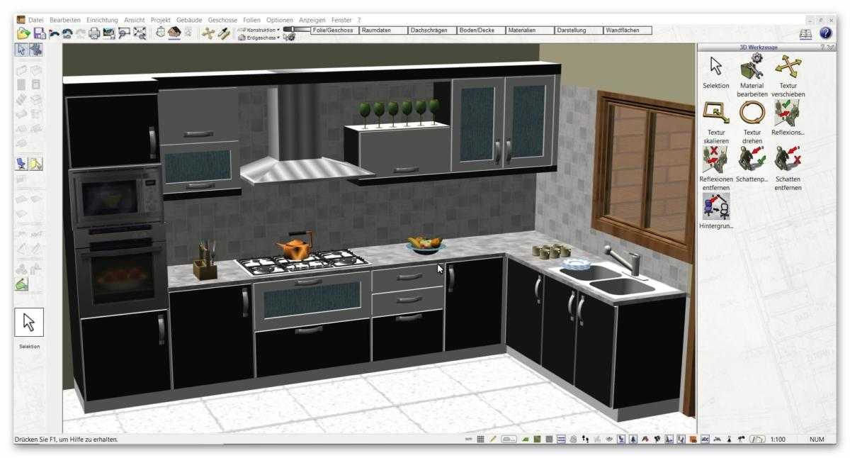 plan7architekt 3d cad k chenplaner software. Black Bedroom Furniture Sets. Home Design Ideas