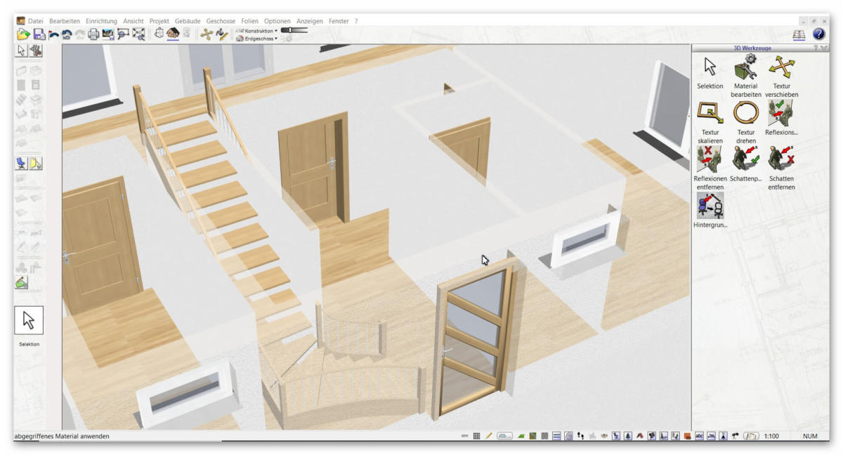 3d cad raumplaner software programm der plan7architekt. Black Bedroom Furniture Sets. Home Design Ideas