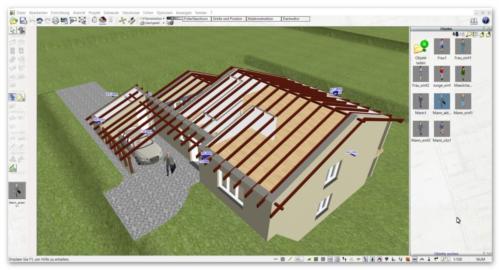 03 Dachkonstruktion mit dem Plan7Architekt